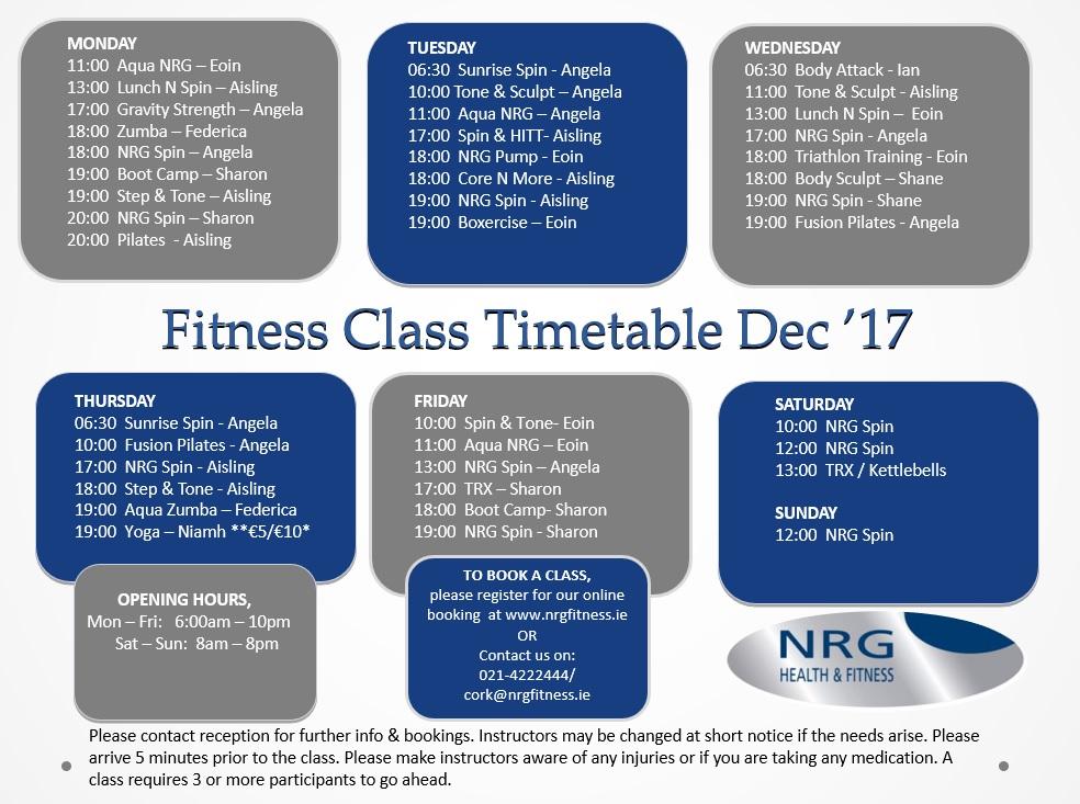 Dec Timetable Social Media