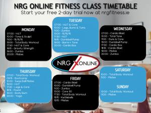 NRG ONLINE TIMETABLE