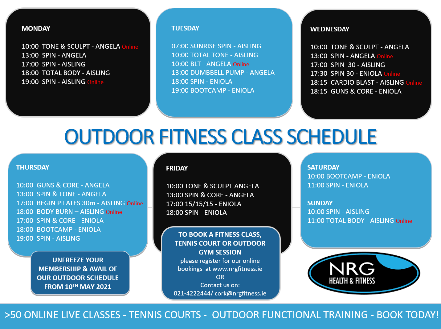 Outdoor Fitness Classes